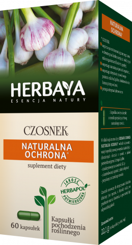 Herbaya Czosnek naturalna ochrona x 60 kaps.